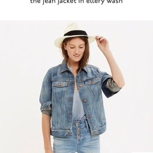 Madewell the jean jacket in ellery wash. (S)